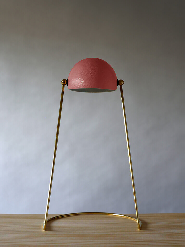 O lamp red
